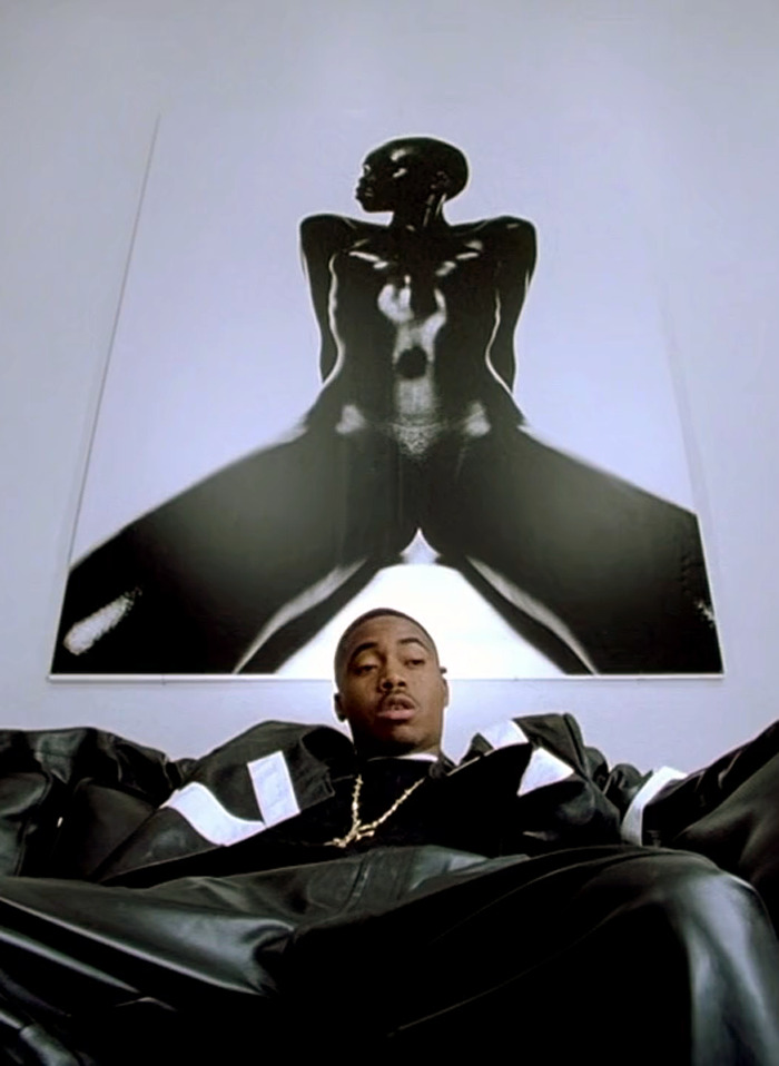 hypeshade:  Nas in Hype Williams's brilliant film Belly (1998)  *Williams greatly defined the recent shape of his characteristicly unique hip-hop video aesthetic and myth .