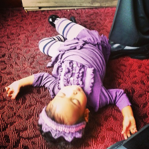 #Sophia throwing a #tantrum lol #stopit #meanie #baby #Albany #NY #brunch