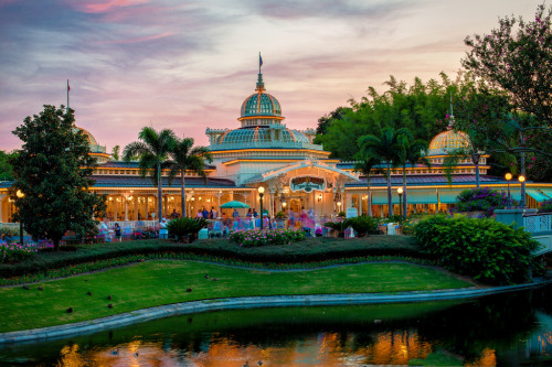 magicyourway:  Magic Kingdom - A Crystal Sunset (by Cory Disbrow)