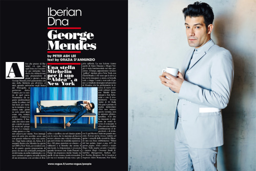 Chef George Mendes of Aldea restaurant for L'uomo Vogue