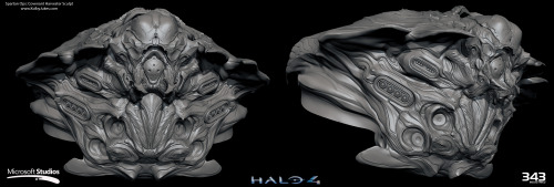 HIGH-RES IMAGE 1 HIGH-RES IMAGE 2 HIGH-RES IMAGE 3 Covenant Harvester sculpt. Started from mass-out/concept sculpt by Halo 4 Art Director Kenneth Scott. Additional concept work by Peter Konig.
