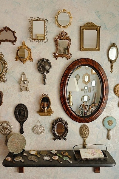 adoredvintage:  Vintage Mirror collection