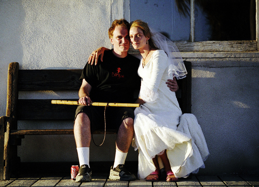 Quentin Tarantino with Uma Thurman