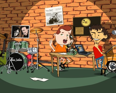 Character design for animation - Fara Zahar Band