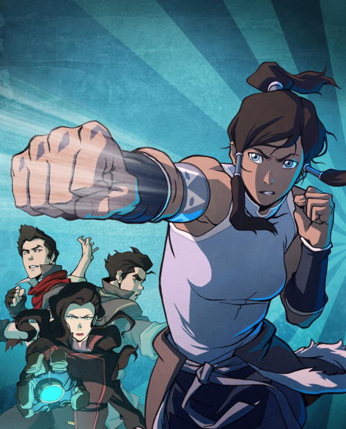bryankonietzko:  Here is the cover art for the Legend of Korra Book 1 DVD/Blu-Ray that Ryu Ki Hyun drew and I colored. It will be released on July 16th, 2013. Here's a link to an IGN article with more info.