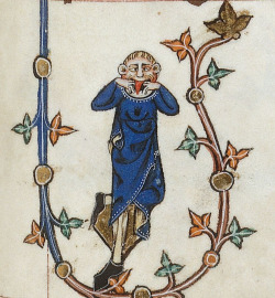 April Fools' Day :P Gorleston Psalter, England 14th century. British Library, Additional 49622, fol. 123r