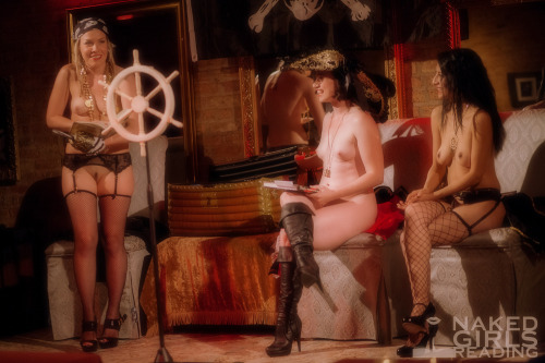 "nakedgirlsreadinghq:  It's ""Read Naked Like a Pirate Day"" at..."