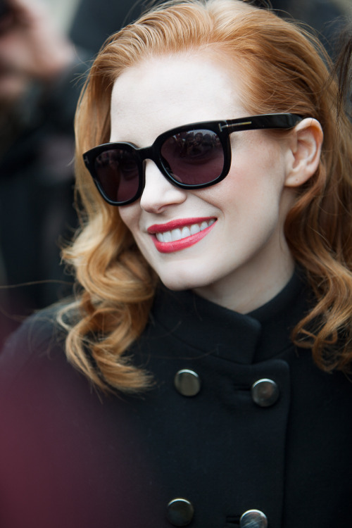 clichey:  Jessica Chastain Viktor & Rolf - Paris Fashion Week PAP AW14