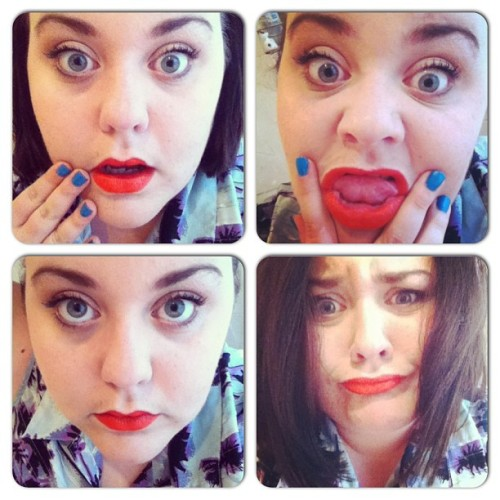 So chaud. #MAC #funwithBee #vanityfriday #instacollage