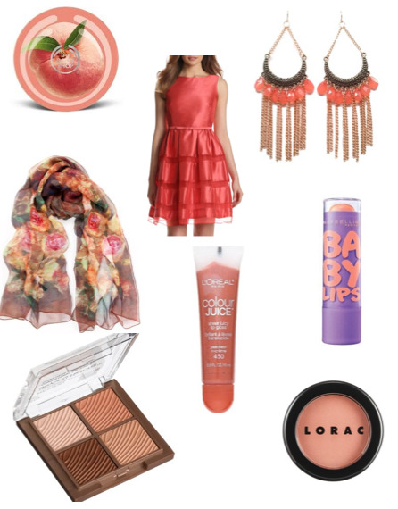 Peach and Coral Collage