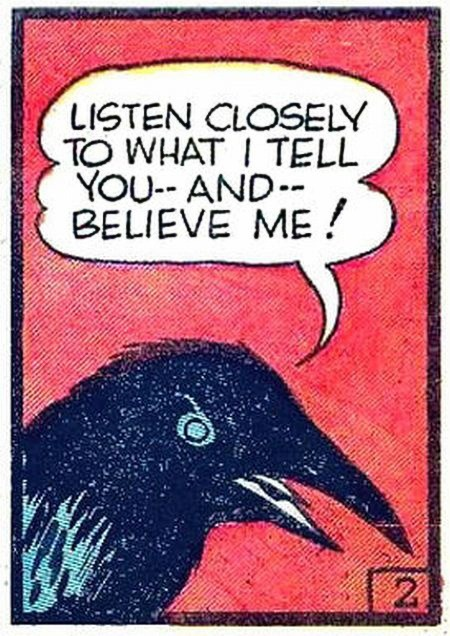 retrogasm:  The Raven telling his tale…