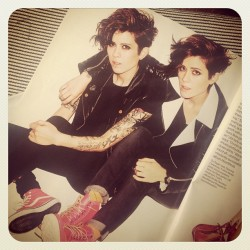 liquorinthefront:  dontcancelonme:  Tegan and Sara - June 2013 Glamour Magazine  SEX.