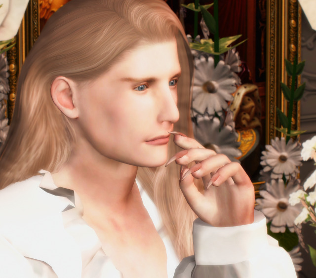 I wonder what he's thinking about and what is in that glass of his... Wine I hope. #ts4#sims 4 #the sims 4 #simtography #sims 4 screenshots #vampies#leo#vampire