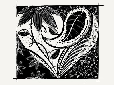 debfmclean:  Zentangle-ish? Prompted by Give Happy. Pattern string courtesy of tangle patterns.com Made With Paper  I love this! Very creative Deb! You inspire me.