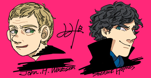 Sherlock, John and pink.