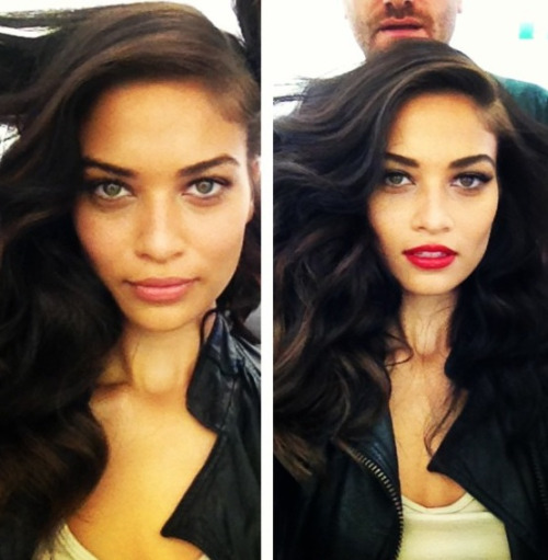 lemme-holla-at-you:  fierrrrrrce:  modelspersonal:  Shanina Shaik before and after makeup Can we just talk about how flawless she is without makeup like omfg she is a perfect human being  omfg she's a goddess  perfect !