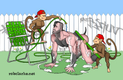 Helper Monkeys Hosing Down a Stinky Scoot, 2010 I had high hopes that Scoot would join the pantheon of cartoon dogs with Marmeduke, Snoopy and Scooby-doo.