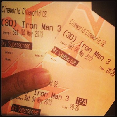 #IronMan3 with Jiwan and Animesh. Next week: Star Trek. 😊 #latepost #TheO2 #movie #Cineworld (at Cineworld O2 Greenwich)