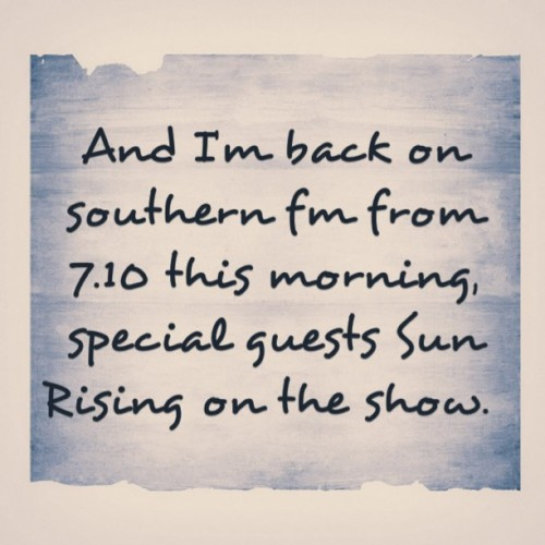 📻☀#radio #melbourne #music #sunrising #rock #rocknroll