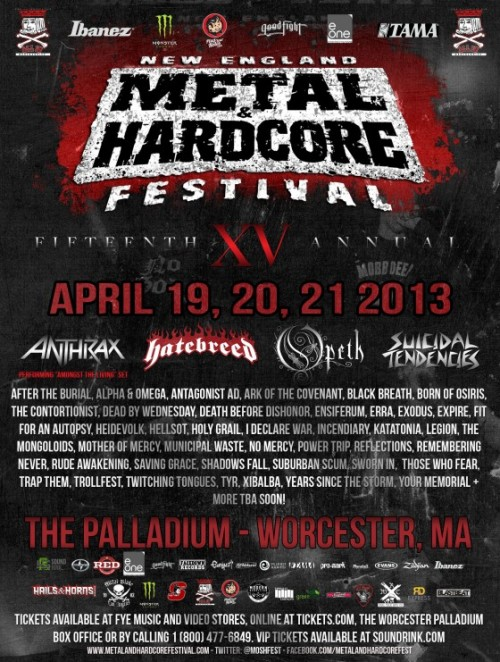 New England Metal and Hardcore Festival has announced it's date and also the lineup.
