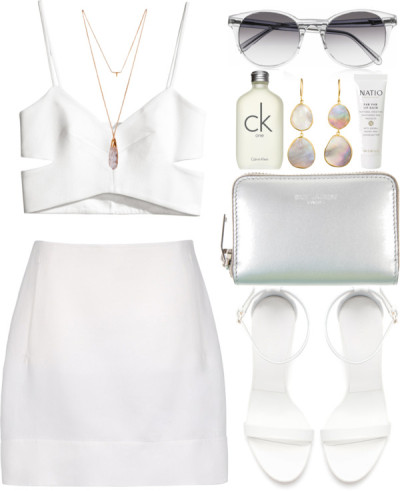 thepolyvorecollection:  All white by thekidofthe90s featuring pippa small jewelry