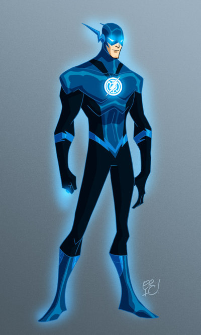 scarlettspeedster:  Blue Lantern Flash by *EricGuzman