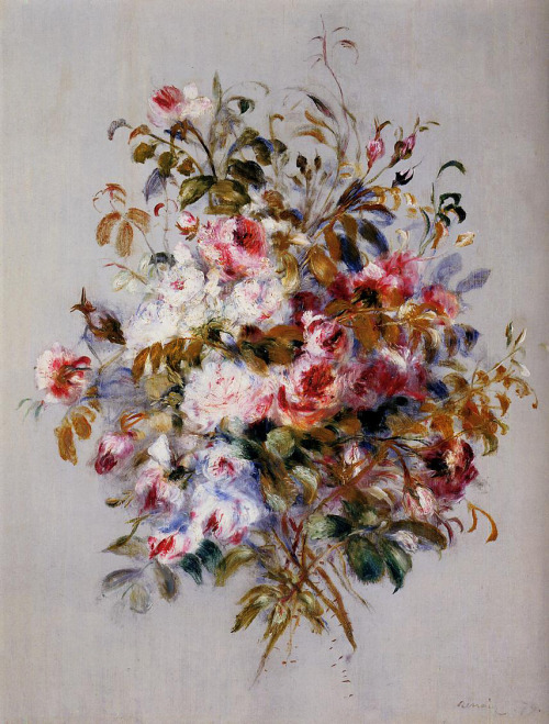 artmastered:   Pierre-Auguste Renoir, 1879, A Bouquet of Roses