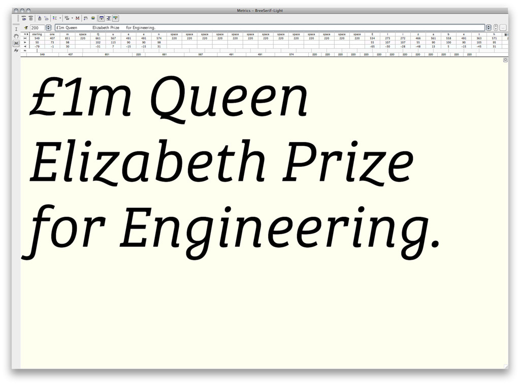 Bree Serif Light italic coming soon from TypeTogether