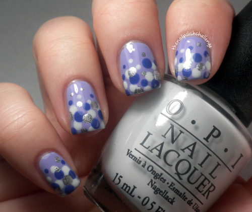 thenailpolishchallenge:  Purple dotticure for Boston, inspired by Will Paint Nails for Food