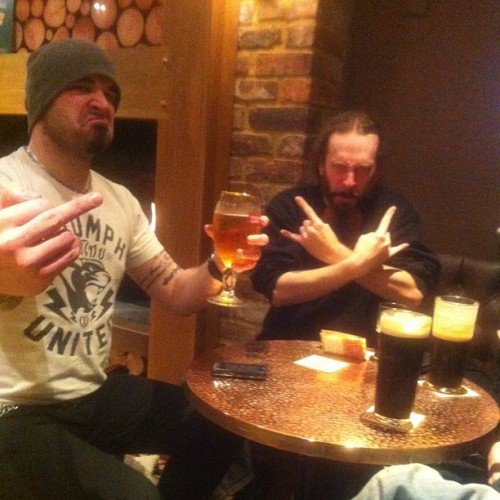 earache:  New EVILE album is done and ready to rip your head off - time to celebrate #evile #thrashmetal #fiveserpentsteeth #earacherecords