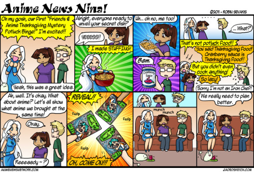 Anime News Nina - #153 A Thanksgiving strip!