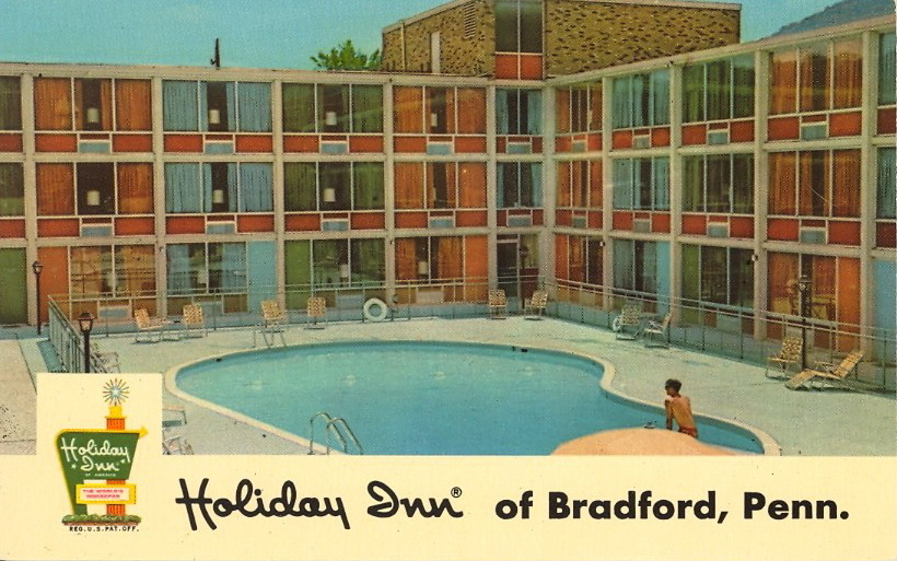HOLIDAY INN of BRADFORD, PENNSYLVANIA One kid at the pool. Hopping place.