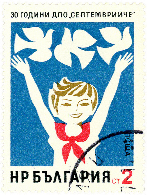 Bulgaria postage stamp: pioneer by karen horton on Flickr.Bulgaria postage stamp: pioneer c. 1974 designed by M. Konstantinova