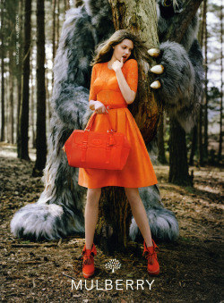 Lindsey Wixson by Tim Walker for Mulberry F/W 2012-13 campaign.