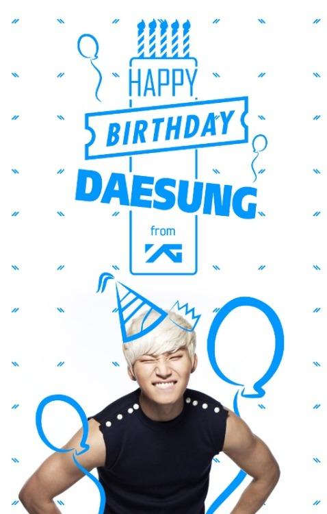 Happy birthDAEsung! <3http://www.yg-life.com/?p=17450