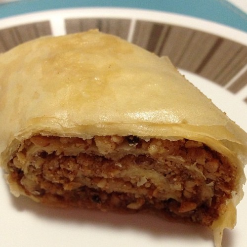 #dessert Baklava or as Miss16 calls it sweet lasagne 😃 From @paniyirigreekfestival #paniyiri2013 #yummy  (at Wheller Gardens)