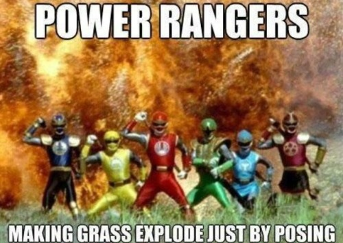 fuckyeahviralpics:  After watching the Power Rangers with my son this pretty much sums up every fight scene via imgur → more…