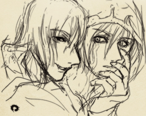 Sorin/Jace, sketch request from Twitter. plus self-celebrate of my Birthday #forever alone