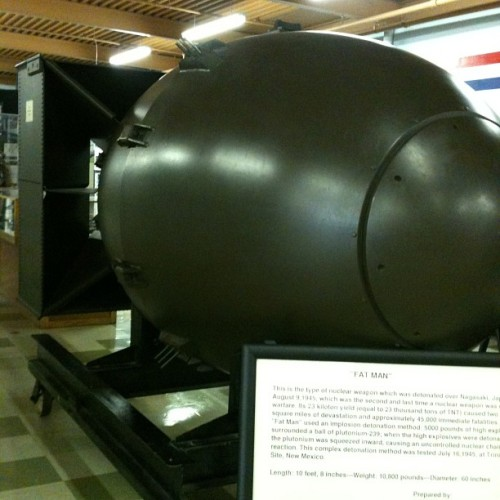 "This was the atomic bomb called the ""Fat Man"", and it had ended WWII"