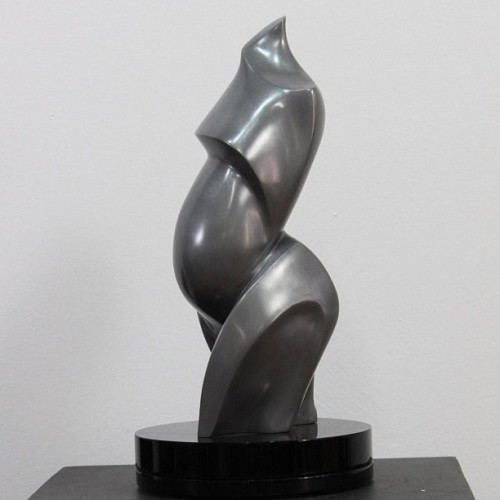 "artbombdaily:  Montréal Maternité,  Rosalie Levi (2011) Aluminum Resin 5in × 12in × 4in — 4lb Artist Rosalie Levi's work is very fluid and sensual, expressing the energy inside the form. Inspired by the anatomy of the human body, her work captures the strength and continuity of the human spirit. ""I was inspired to create a special piece to represent the strength of women around the world fighting breast cancer. I wanted the sculpture to represent hope and life. What better way to express this than through the creation of life. Beginning from the left side of the torso it has a cubist feel to it, but as it turns, it unfolds like the petals of a waking flower."" Bid:$1,900.00 http://www.artbombdaily.com/details/134 #art #montreal #artist #sculpture #instaart"