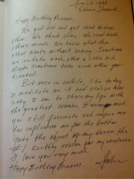 obsessiveandaddictive:  a letter from johnny cash to his wife june on her birthday, 26 years into their marriage. #crying