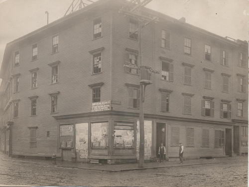 "81-91 A Street and Bolton Street"" South Boston, April 1916, Boston Landmarks Commission image collection, (Collection #5210.004) City of Boston Archives    This work is free of known copyright restrictions.  Please attribute to City of Boston Archives. For more images from this collection, click here"