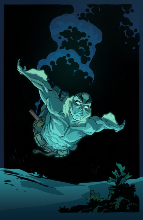 Abe Sapien by Corenthal J. Walker (lines) and Jimmy Tran (colors)