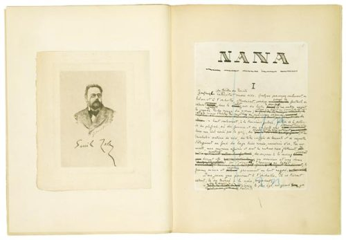 centuriespast:  Emile Zola (1840–1902)NanaAutograph manuscript signed, 1880 The Morgan Library  Just started reading Le ventre de Paris!