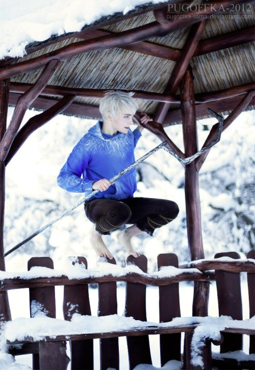 sofy202:  Jack Frost - Rise of the Guardians by *Pugoffka-sama  Didn't like the movie much but that is one cool-ass cosplay!