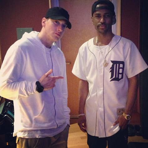 "One of Big Sean's dreams came true when he hit the studio with his idol Eminem on Friday. It's unknown if the Detroit rappers were working on a collaboration, but Sean shared the special moment with his fans. ""Today was historical,"" tweeted the G.O.O.D. Music MC."