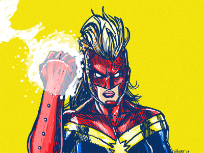 tights-and-capes:  Powerful Fist of Captain Marvel by nickv47
