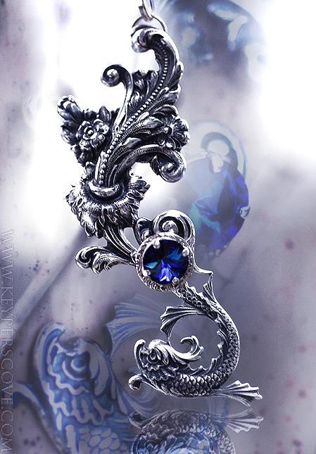 meltingmirror:  Eternal Koi Pendant by *KeypersCove