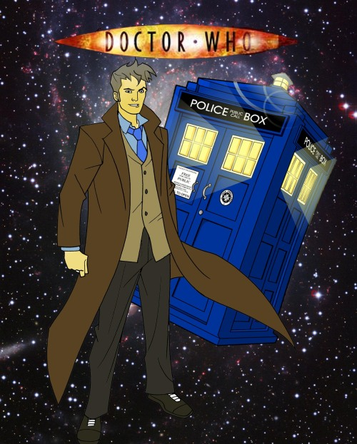 fabulous-killjoy21:  I made a cartoon Doctor Who for my photoshop class :3