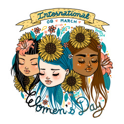 Hip Hip Hooray, for International Women's Day. www.laurencarneyart.tumblr.com x